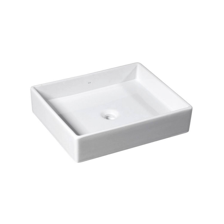 Wastafel Opbouw Sapho Purity Rechthoekig 50x42x11.5 cm Keramiek Wit
