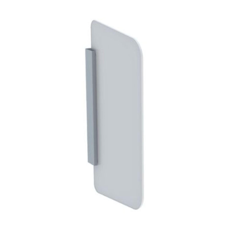 Urinoirscheidingswand Wit glas voordeel