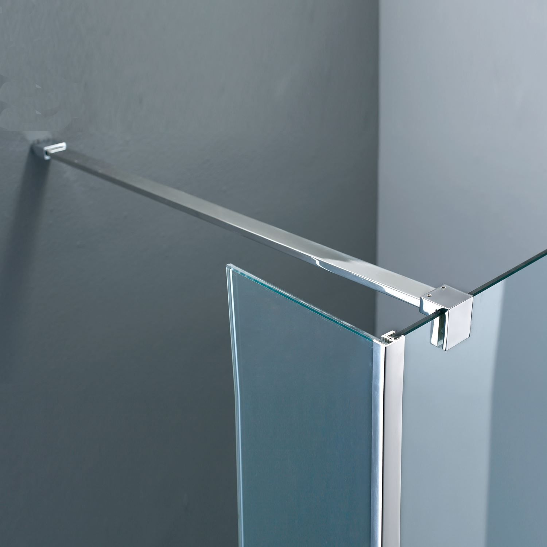 Sanitair-producten 5643 Vierkante stabilisatiestang chroom 120cm (complete set)