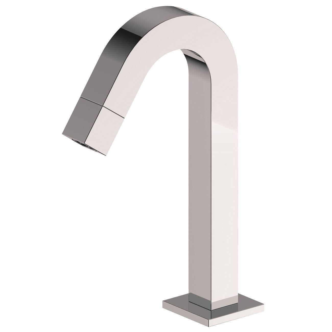 Mueller Kappa toiletkraan staand gebogen chroom