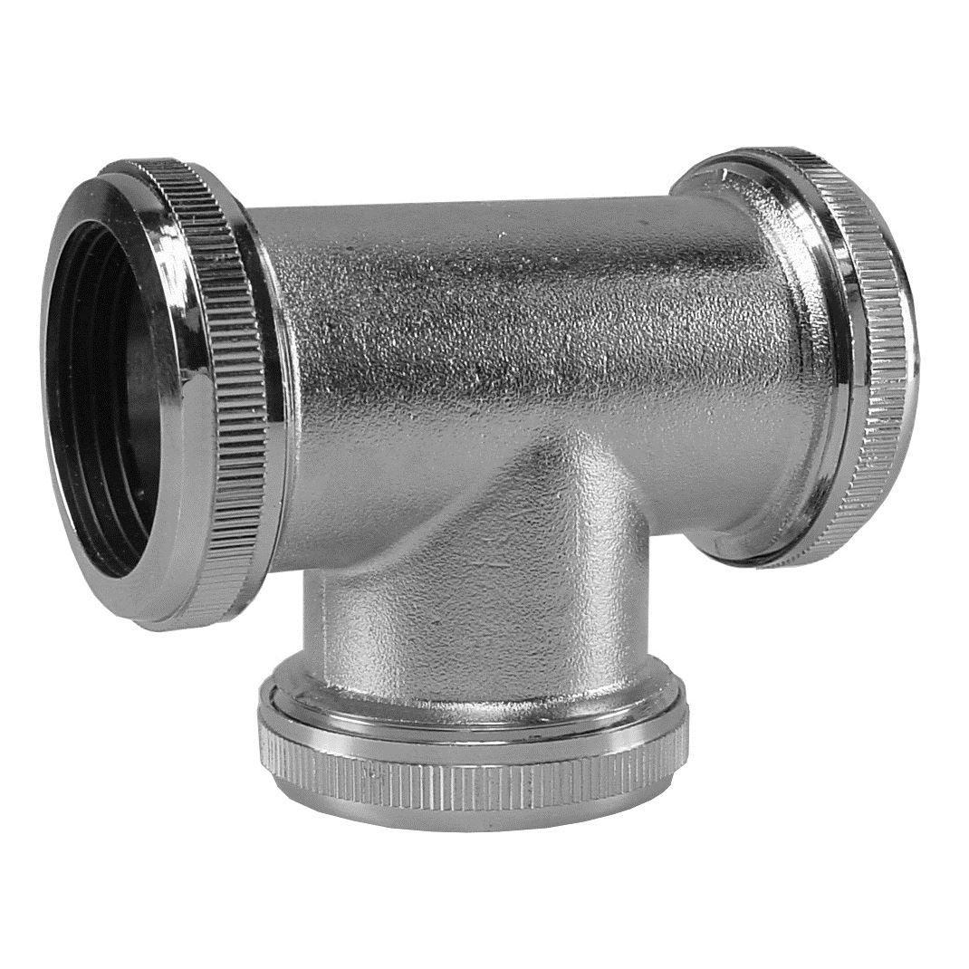 Badkamer Chroom 32mm koppel T stuk T.B.V vloerbuis Vloerbuizen