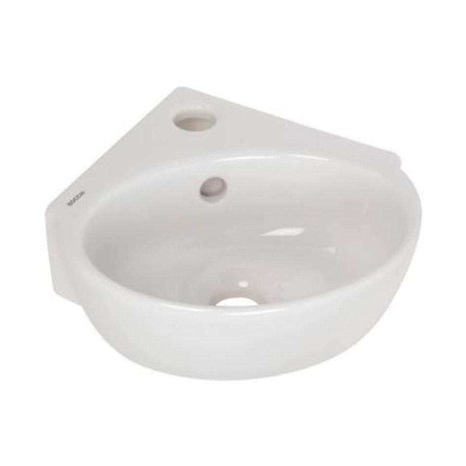 Sanitair-producten 72808 Hoekfontein Plieger Corner Keramiek 31.4×30 cm Mat Wit Zonder Overloop