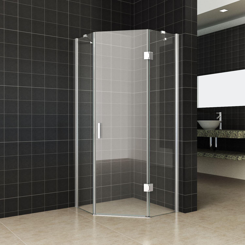 Sanitair-producten 64951 5-hoek Douchecabine Wiesbaden 100x100cm 8mm Nano glas