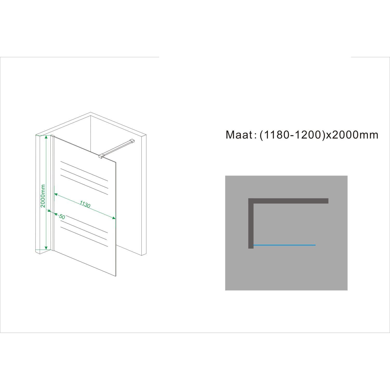 wiesbaden wit melkglas 120x200cm 10mm