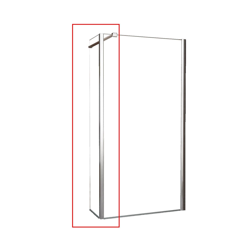 Zijwand Wiesbaden Hoekprofiel 40x200cm 10mm NANO coating kopen - Tegel Depot sanitair met korting