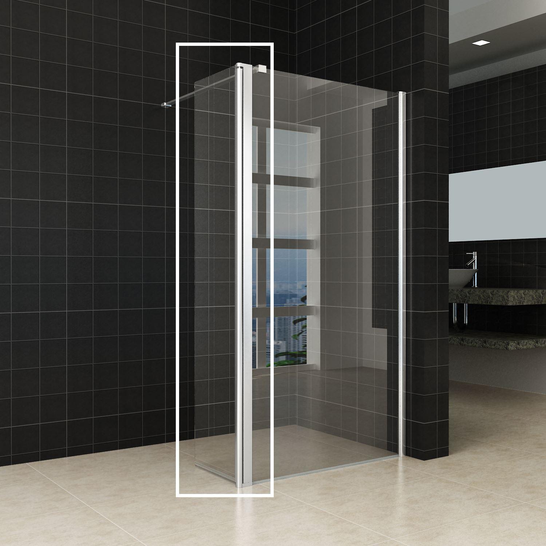 Sanitair-producten 16471 Zijwand Wiesbaden Draaibaar 40×200 cm 10mm NANO coating