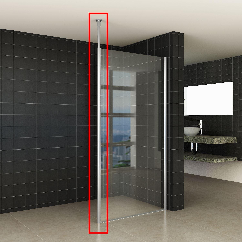 Sanitair-producten 65878 Verticale Stabilisatiestang met Plafond Bevestiging Wiesbaden Chroom voor 10 mm