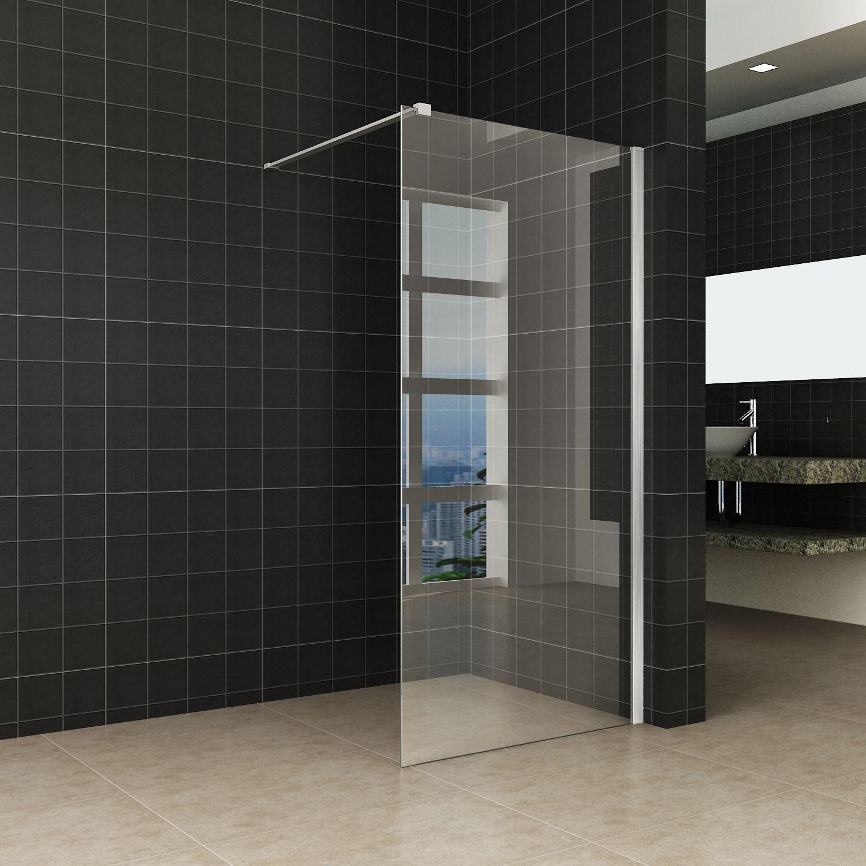 Sanitair-producten 45135 Douchewand Wiesbaden met RVS profiel 100×200 cm 10mm NANO glas