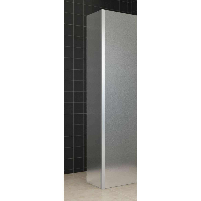 Zijwand Wiesbaden met Hoekprofiel 35x200 10mm NANO Geheel Mat Glas kopen - Tegel Depot sanitair met korting