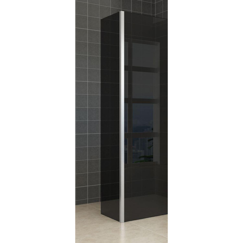 Zijwand Wiesbaden met Hoekprofiel 35x200 10mm NANO Rookglas kopen - Tegel Depot sanitair met korting