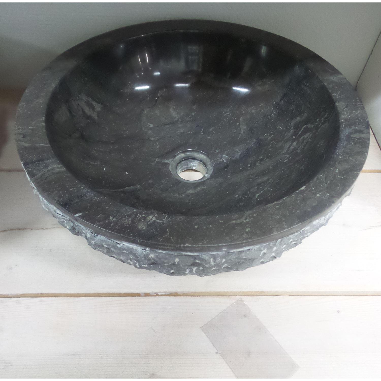 Sanitair-producten 54040 Waskom Natuursteen W01 Marmo Zwart 40x40x15 cm