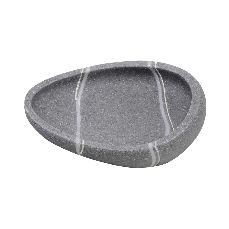 Zeephouder Sapho Little Rock Vrijstaand 12.5x9x3.5 cm Polyresin Grijs