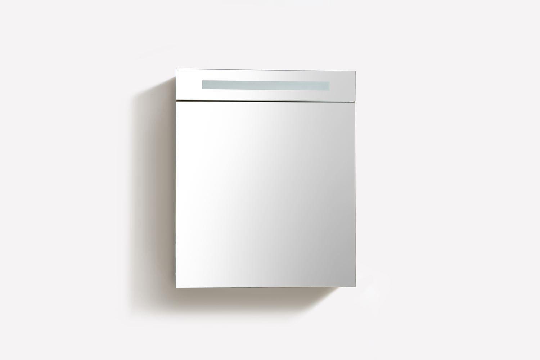 Spiegelkast met verlichting wcd 60 cm antraciet for Spiegelkast 60 cm breed