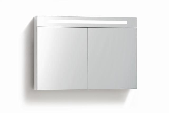 Badkamer Spiegelkast 100cm : Spiegelkast met verlichting wcd cm verschillende kleuren