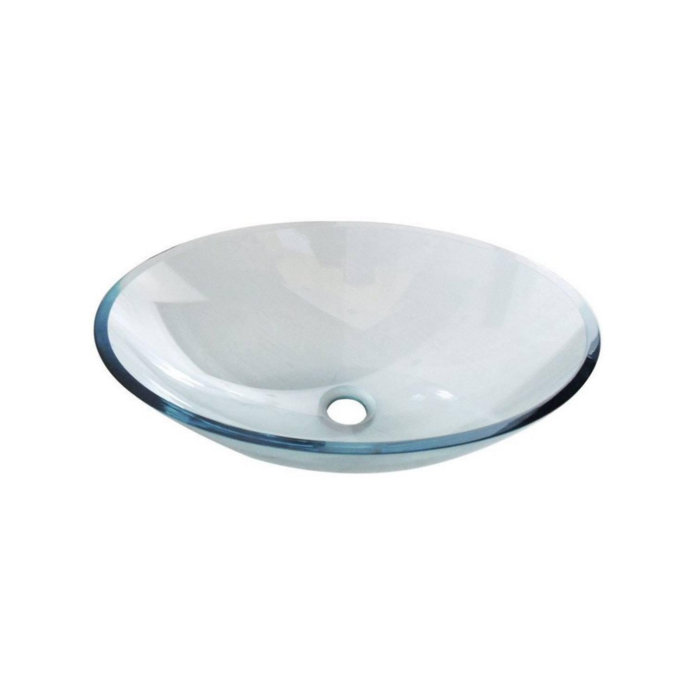 Badkamer Waskom Sapho Beauty Ovaal 52×37.5 cm Helder Glas Waskom