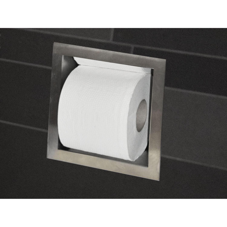 Reserve toilet rolhouder inbouw wiesbaden rvs - Muur wc ...