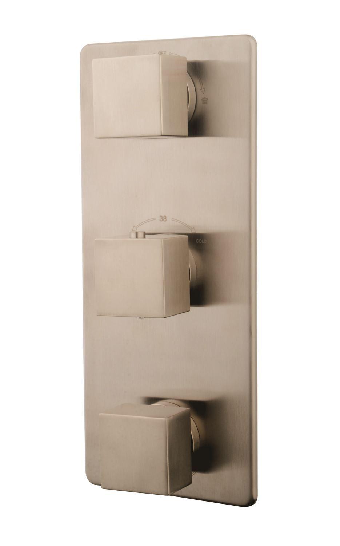 Productafbeelding van Rombo afbouwdeel therm. 3 weg RVS Look