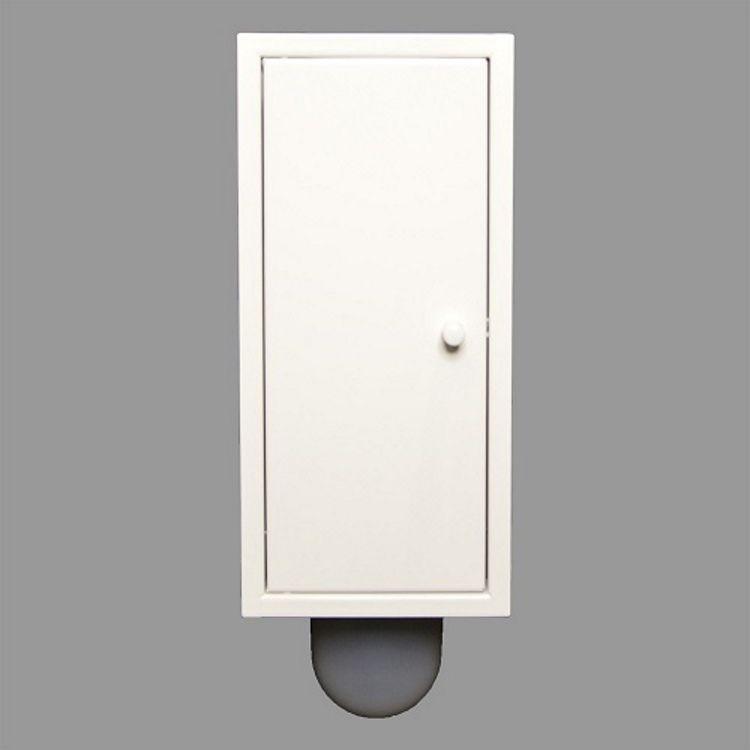 Inbouw Toilet borstel Brush-Up Gepoedercoat Wit Etsero