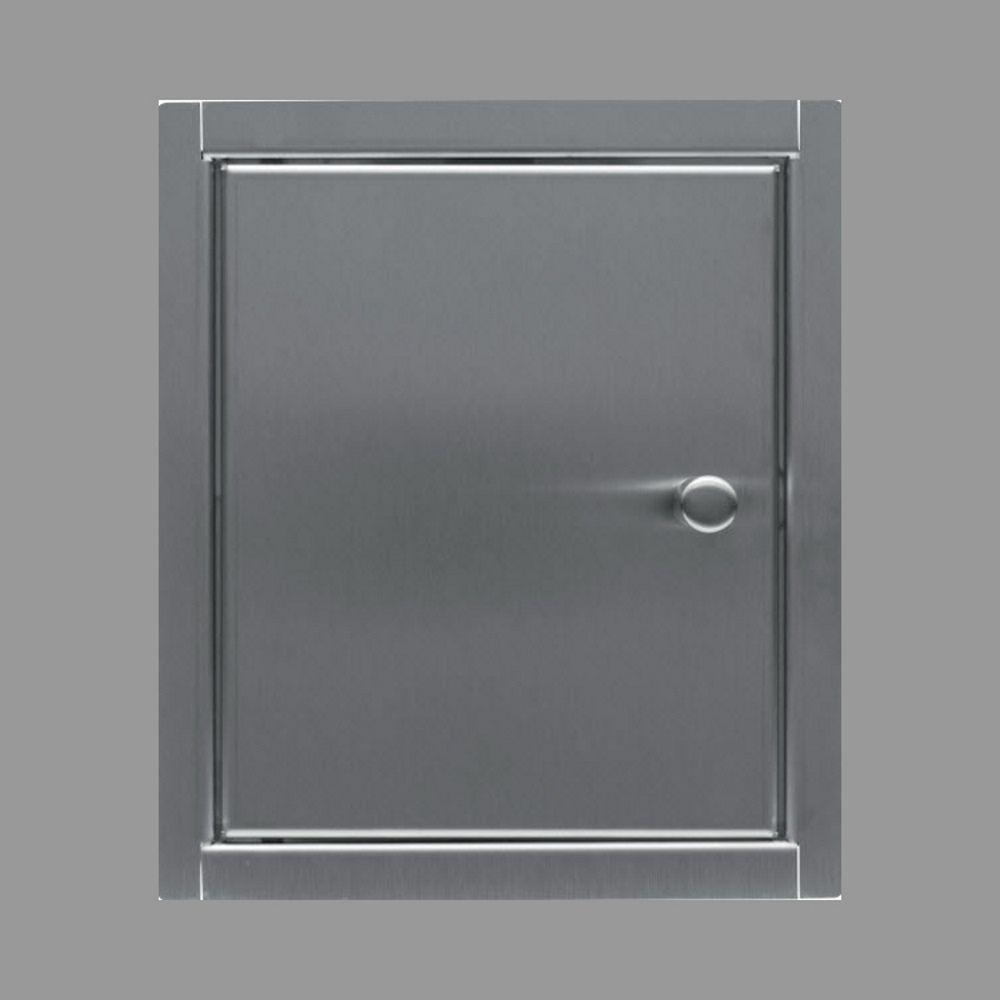 Inbouw Toiletkastje Back-up RVS Geborsteld 13,5x16x13,5 cm