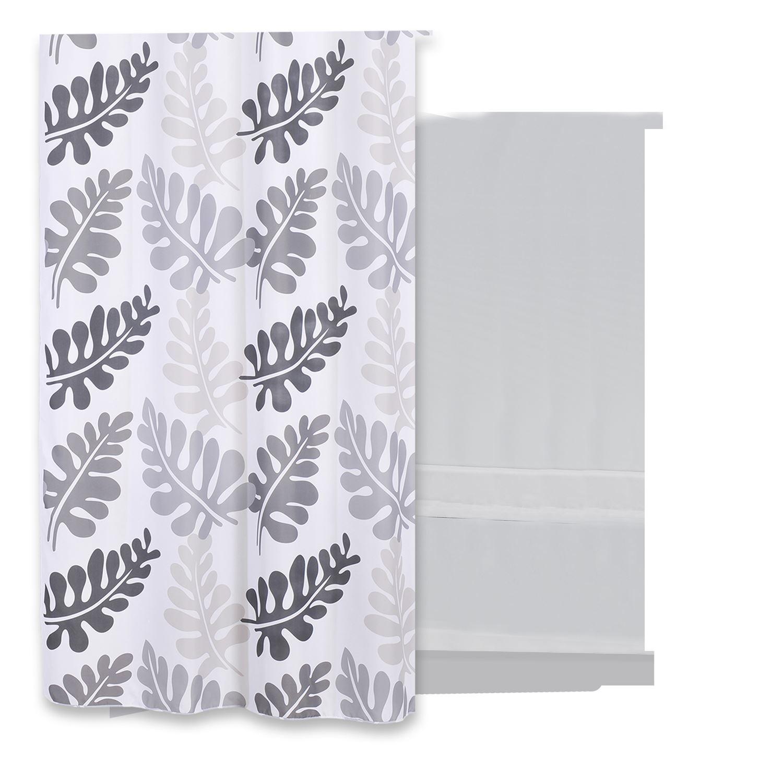 Douchegordijn Differnz Folia Polyester 180x200 cm Grijs Accessoires > Douchegordijnen > Douchegordijnen snel en voordelig in huis