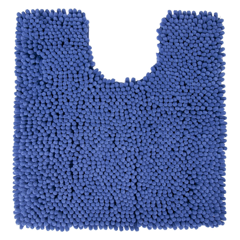 Toiletmat Differnz Chenille Shaggy Antislip 60x60 cm Microfiber Blauw voordeel
