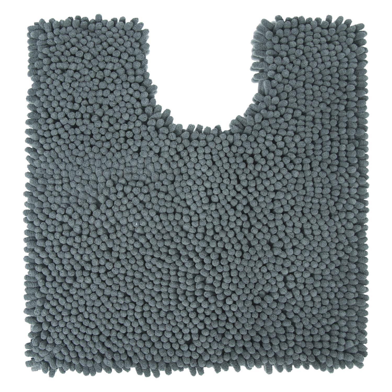 Differnz Chenille Shaggy wc mat 60x60 grijs