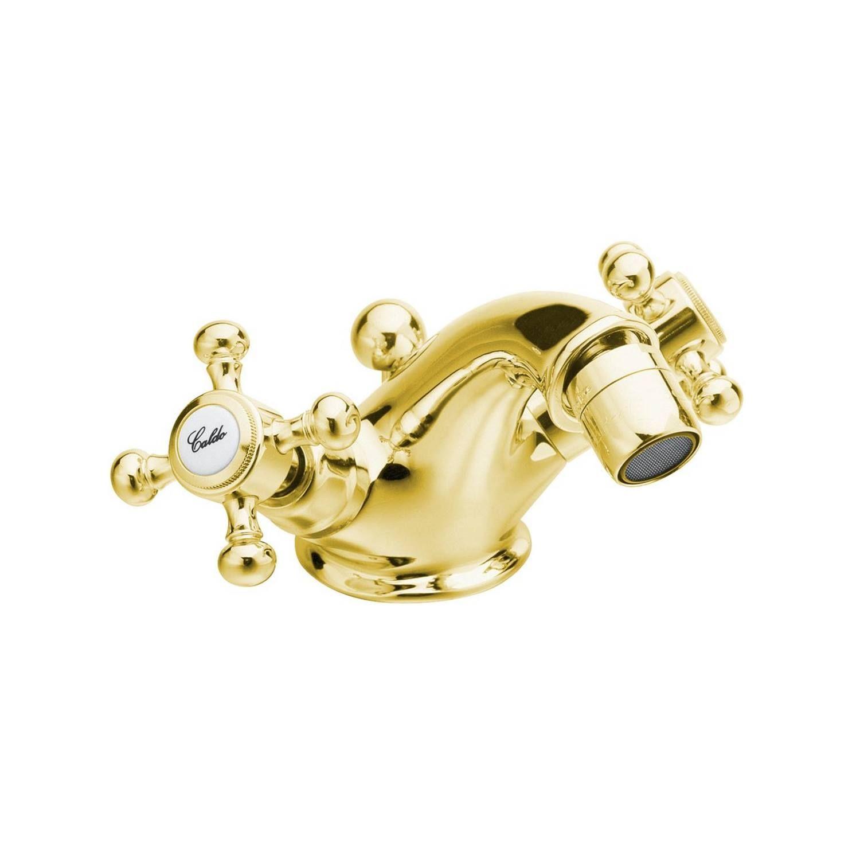 Bidetmengkraan Sapho Antea 2-knop Gebogen 7.2 cm Goud (incl. clickwaste)