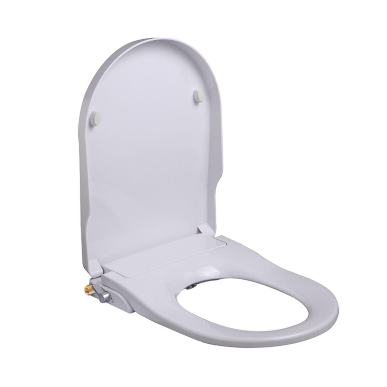 Douche WC Zitting Wiesbaden Flush Stroomloos met sproeier Wit voordeel