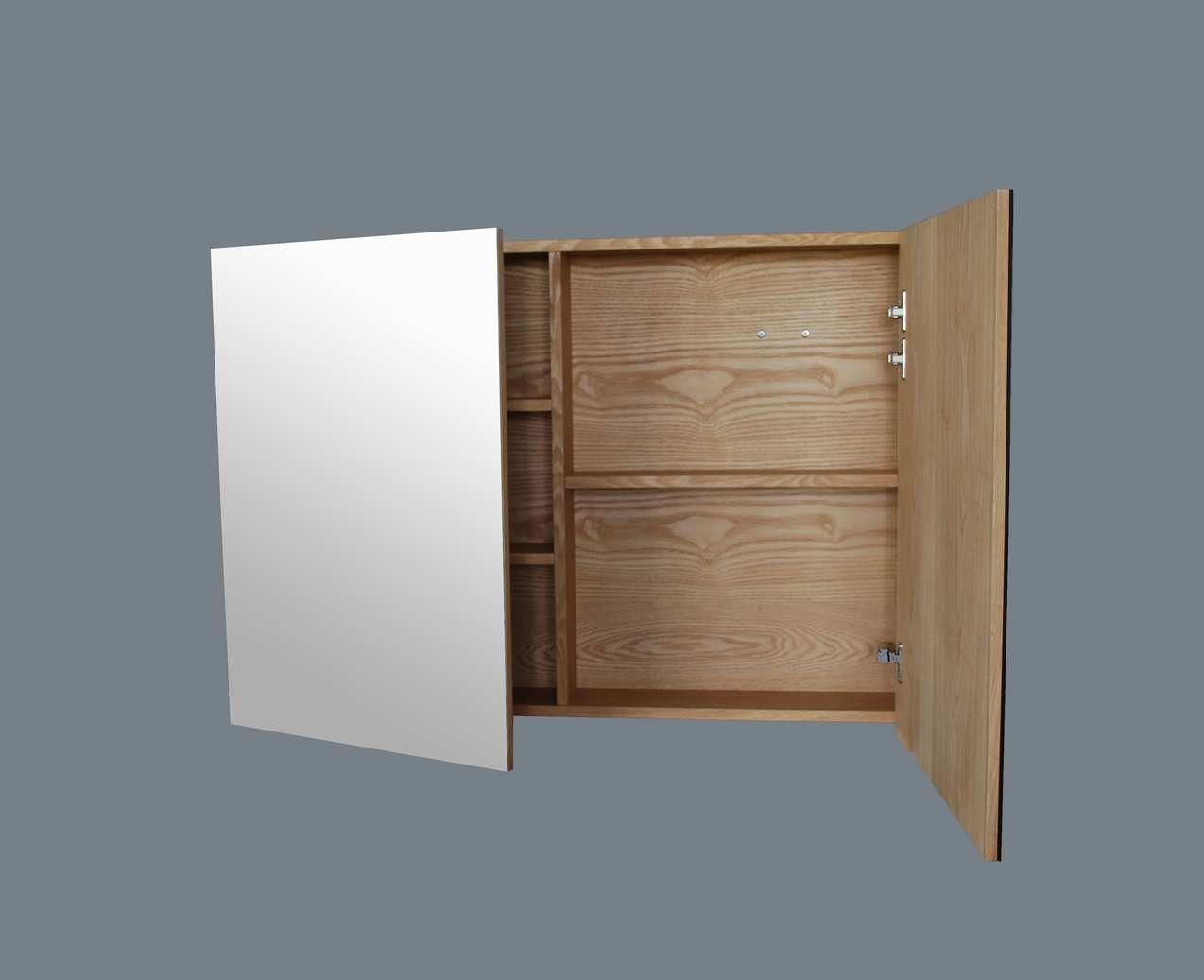 Spiegelkast wood 100 cm 34100 for Spiegelkast 80 cm