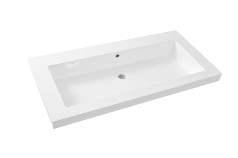 Witte Badkamer Wastafel : ≥ wit badkamermeubel wastafel grohe kranen spiegelkast u ac