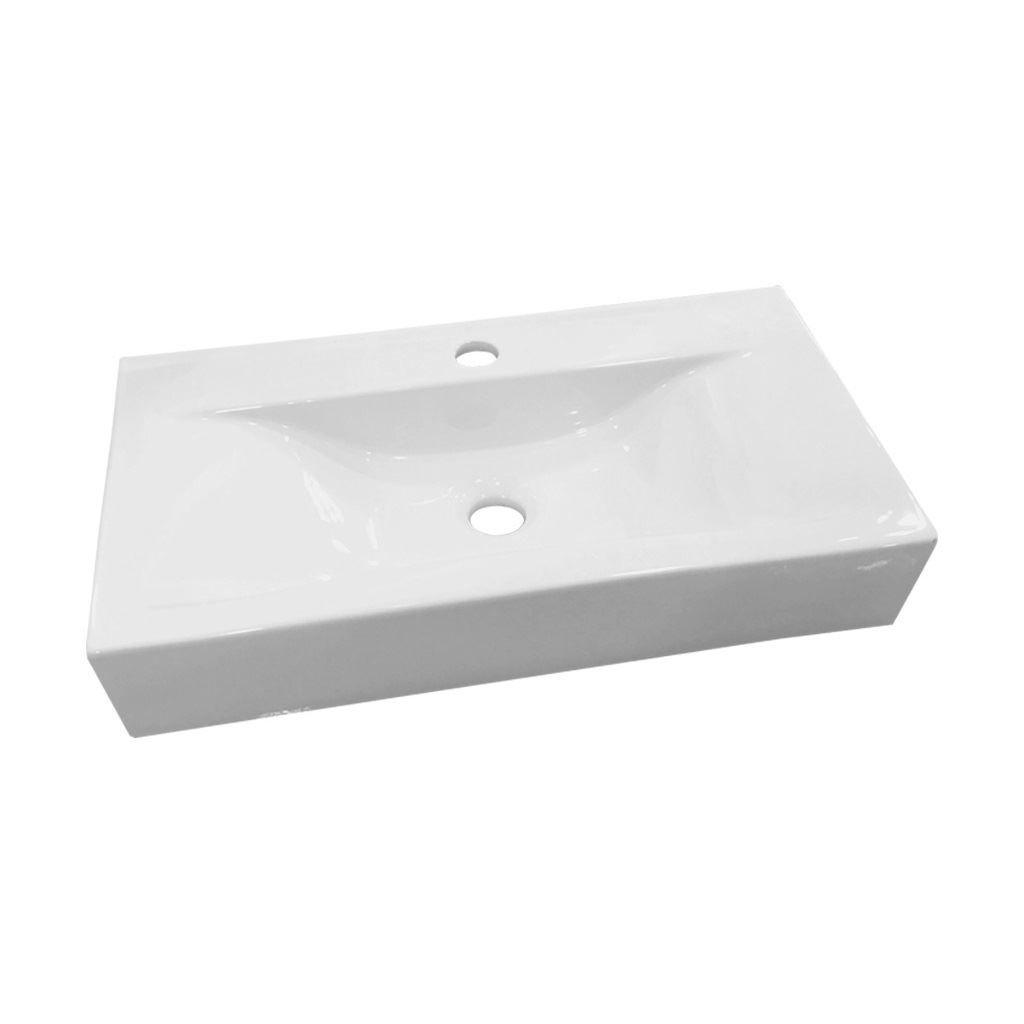 Wastafel Best Design Begee Rechthoek zonder overloop 59,5×32,5x11cm (met Kraangat)