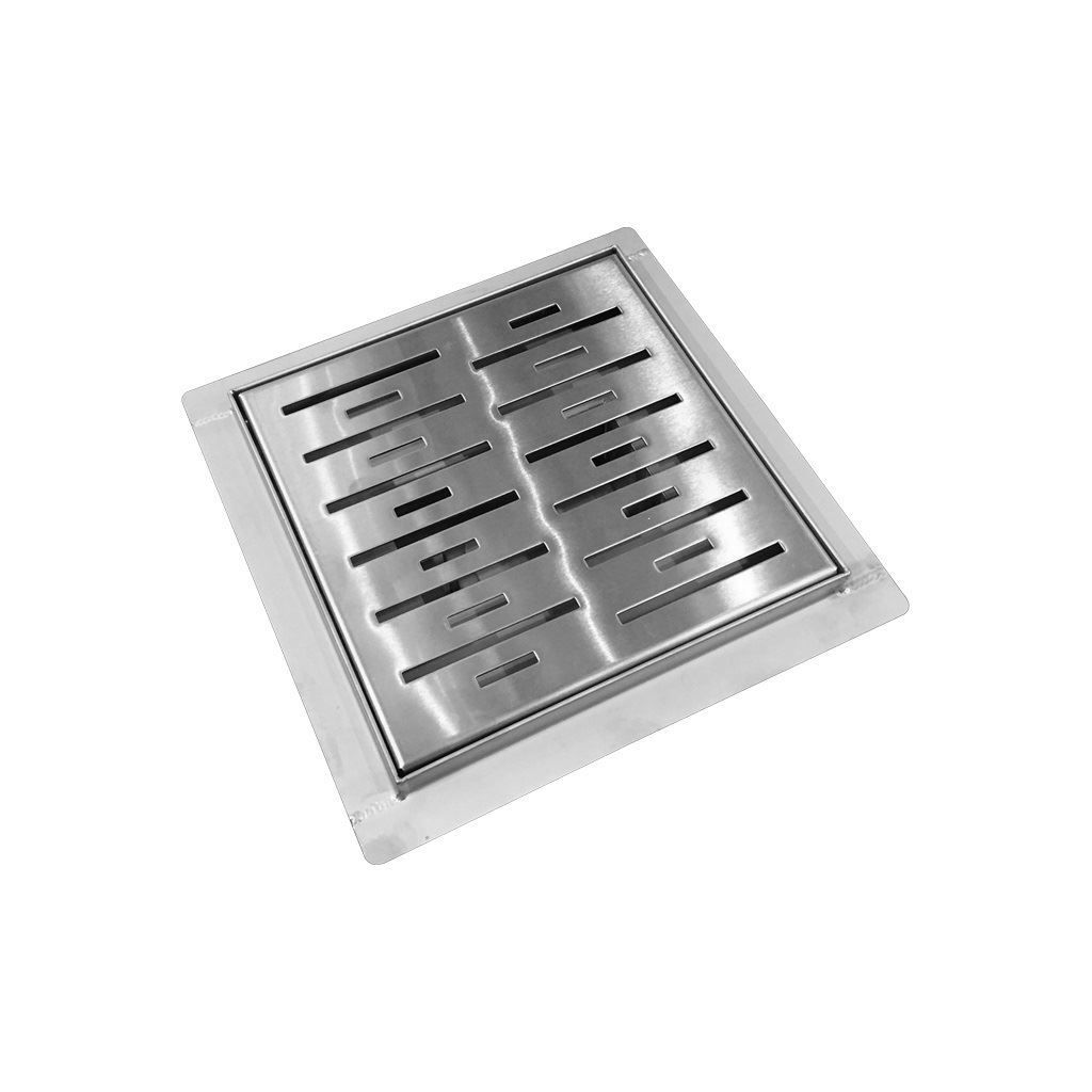 Doucheput Best Design N-Square met Flens 20x20x7.7cm RVS kopen - Tegel Depot sanitair met korting