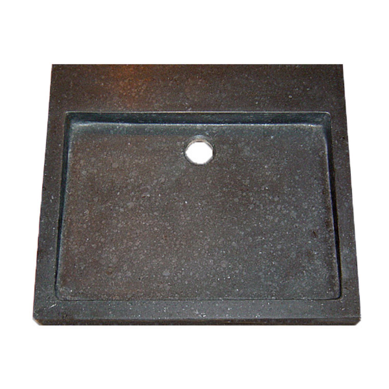 Wastafels 37656 Wastafel Best Design Limestone Opbouw Zonder kraangat 50x45x6cm