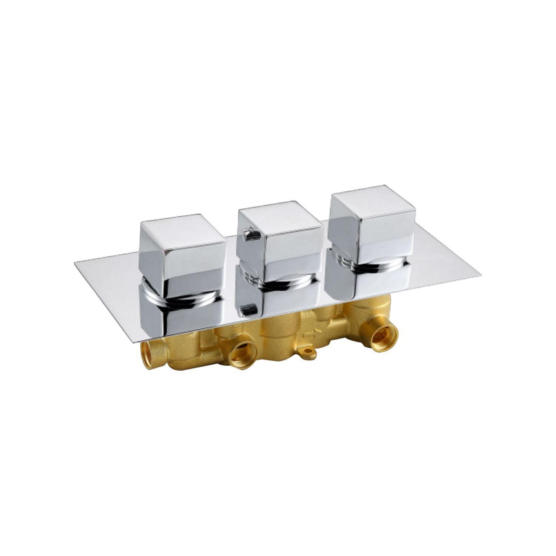 Best Design Quadro inbouwthermostaat 3-weg