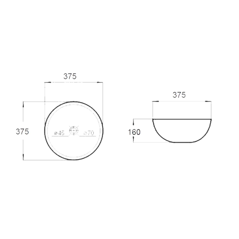 waskom best design rema opbouw rond à 37 5cm tegeldepot