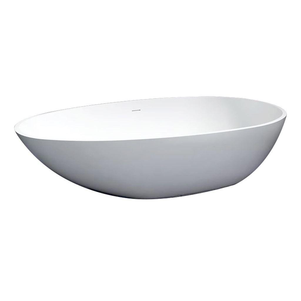 Best Design Solid Puur vrijstaand bad 180x90x58cm mat wit