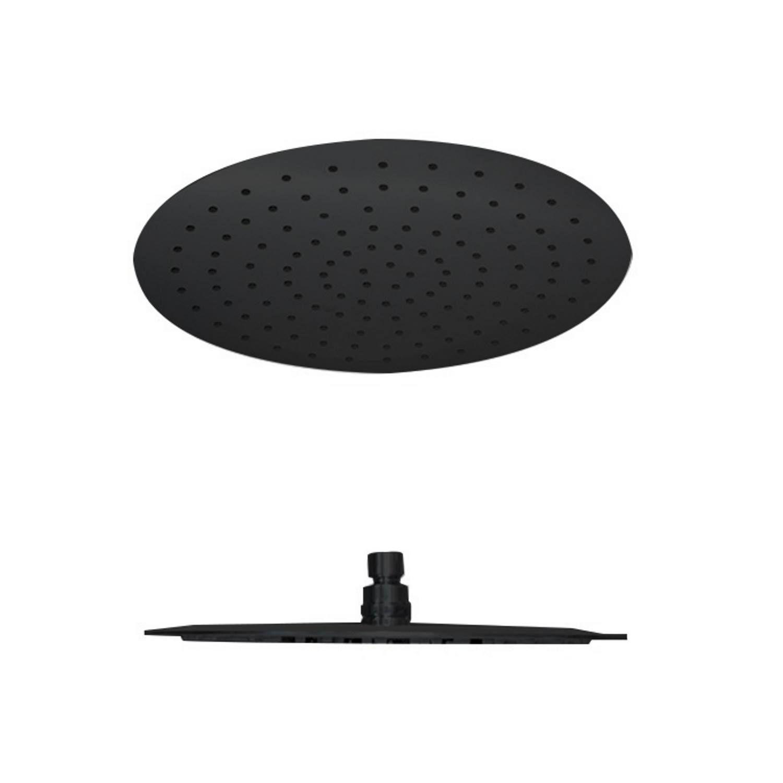Regen douchekop Best Design Nero Rond 20 cm 304L Mat Zwart Best design Gratis bezorgd