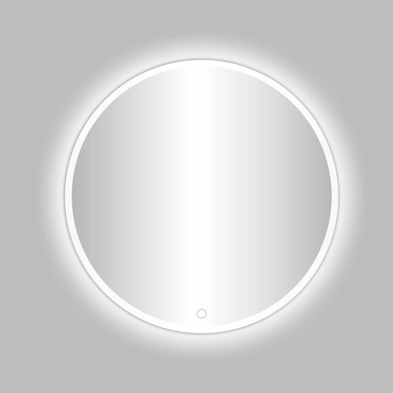 Badkamerspiegel Best Design Venetië White LED Verlichting 80x80 cm Rond Mat Wit