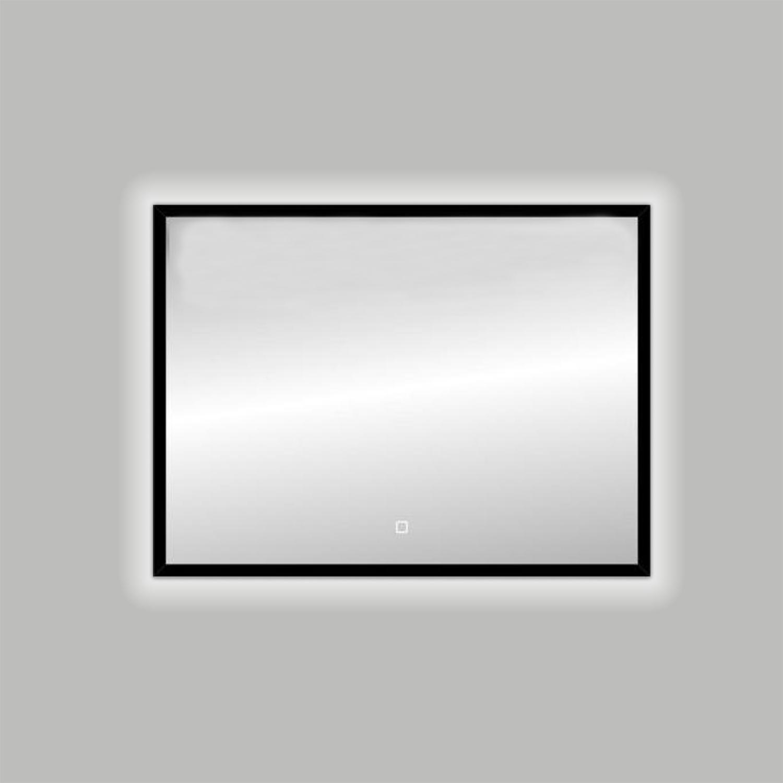 Badkamerspiegel Best Design Nero LED Verlichting 80x60 cm Mat Zwart
