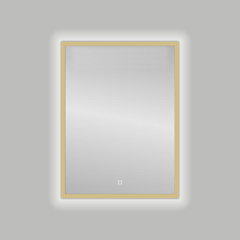 Productafbeelding van Badkamerspiegel Best Design Nancy Isola LED Verlichting 60x80 cm Mat Goud