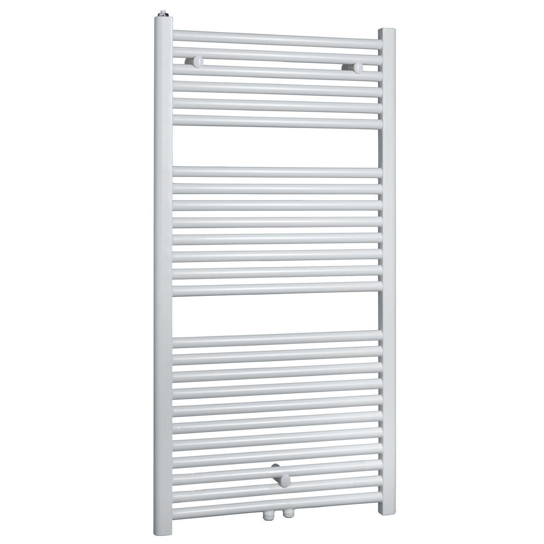 Badkamer radiator > Designradiator > Designradiator kopen? Elara sierradiator wit 1185×450 Middenonder aansluiting het voordeligst hier