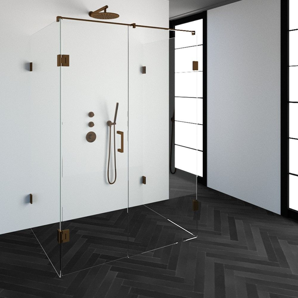 Productafbeelding van Douchecabine Compleet Just Creating Profielloos XL 100x140 cm Koper