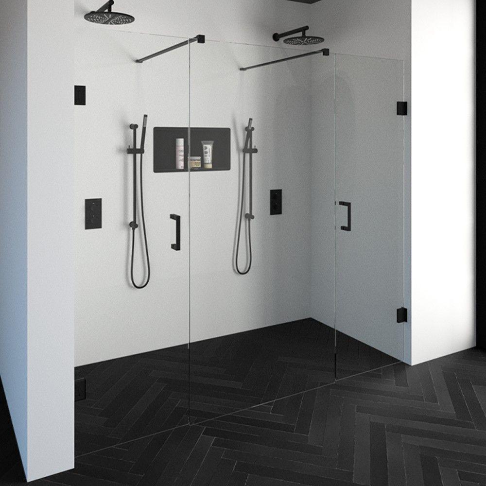 Productafbeelding van Niscabine XL Compleet Just Creating 220x200 cm 60/100/60 zwart