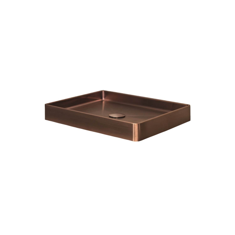 Opzetwastafel Dekker Lanesto Vanity 52x41x7 cm RVS Copper