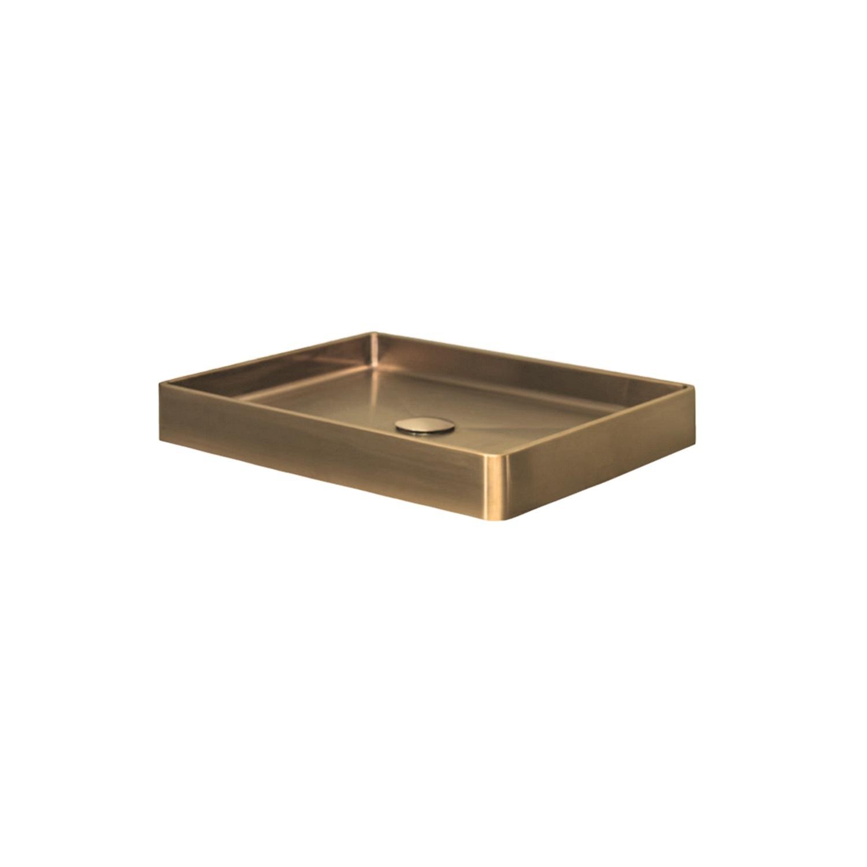 Opzetwastafel Dekker Lanesto Vanity 52x41x7 cm RVS Gold