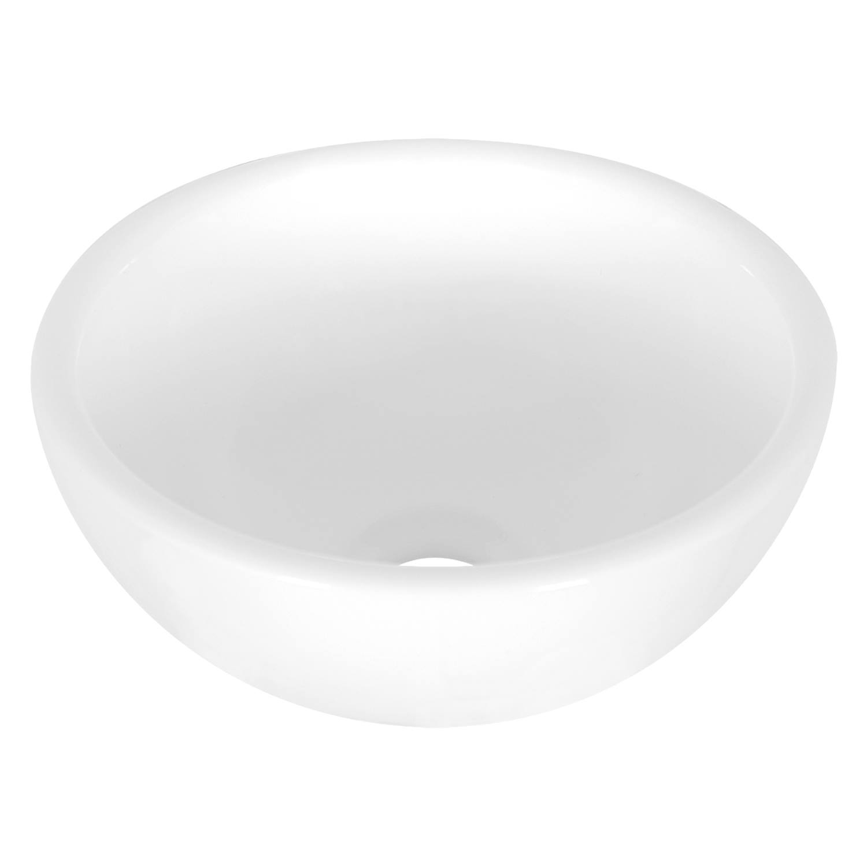 Opbouw Waskom Differnz Dia 25x11.5 cm Keramiek Wit voordeel