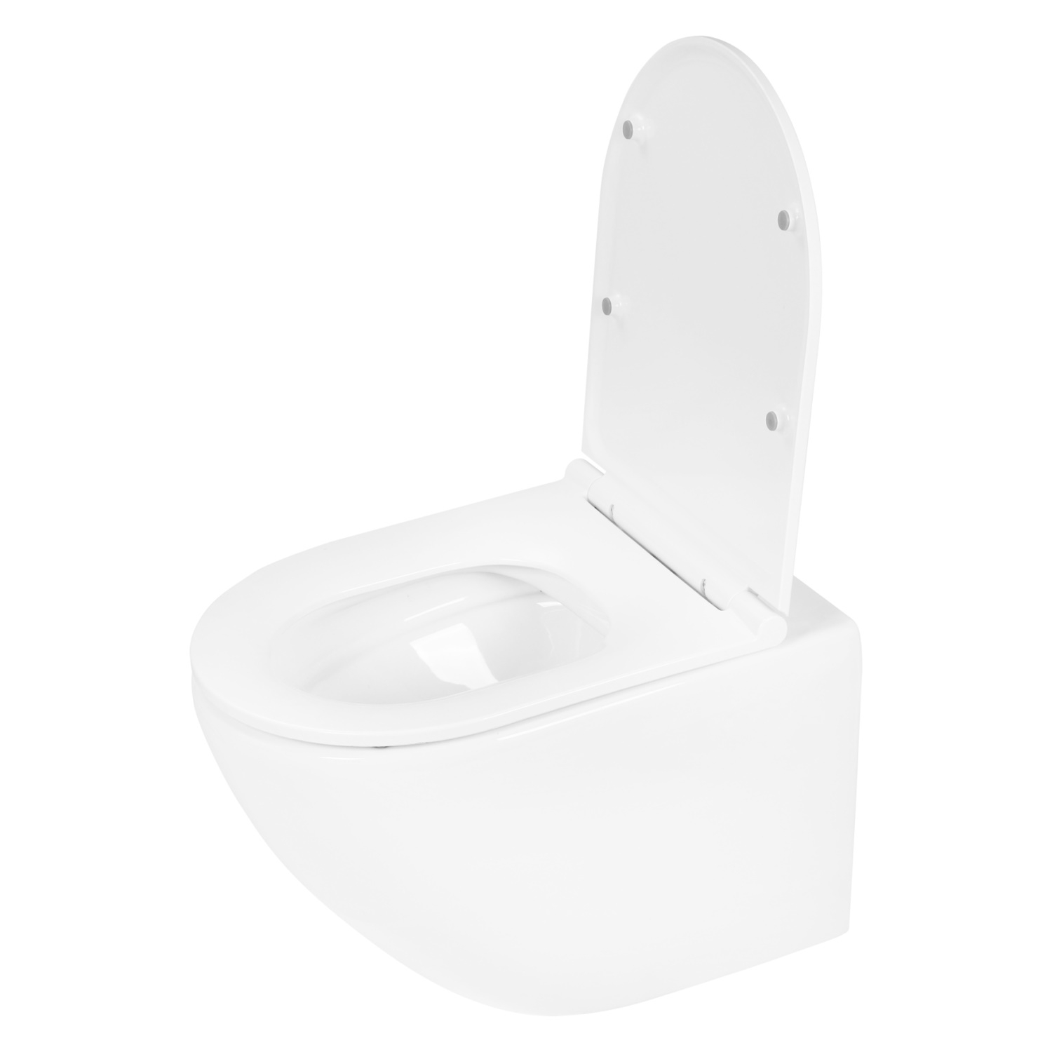 Wandtoilet Differnz Met PK Uitgang Rimless Inclusief Toiletbril Glans Wit
