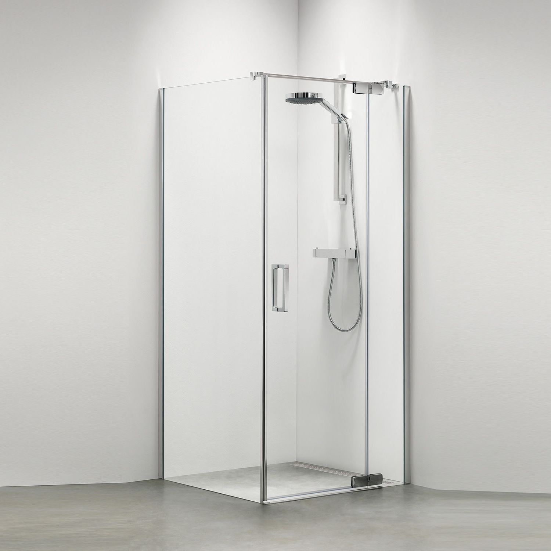 Sealskin Get Wet Custom swingdeur rechts met zijwand 90X195cm zilverhoogglans helder glas