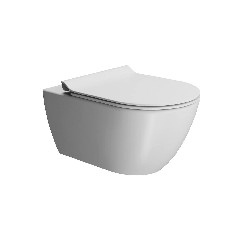 Toilet Wandcloset Sapho Pura Swirlflush Hangend 55x36 cm Mat Wit (excl. zitting) te koop met veel voordeel