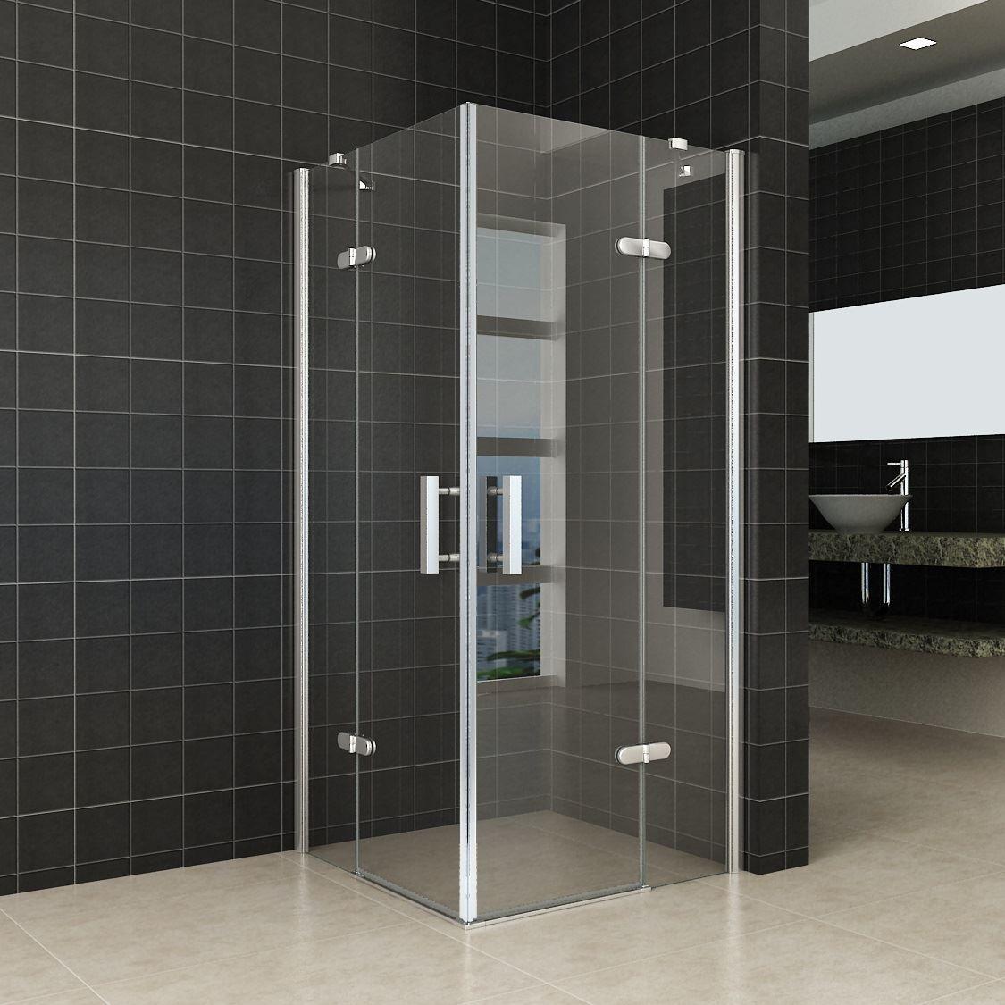 Sanitair-producten 10642 Douchecabine Wiesbaden hoek instap 2 deuren 90x90cm 8mm NANO coating